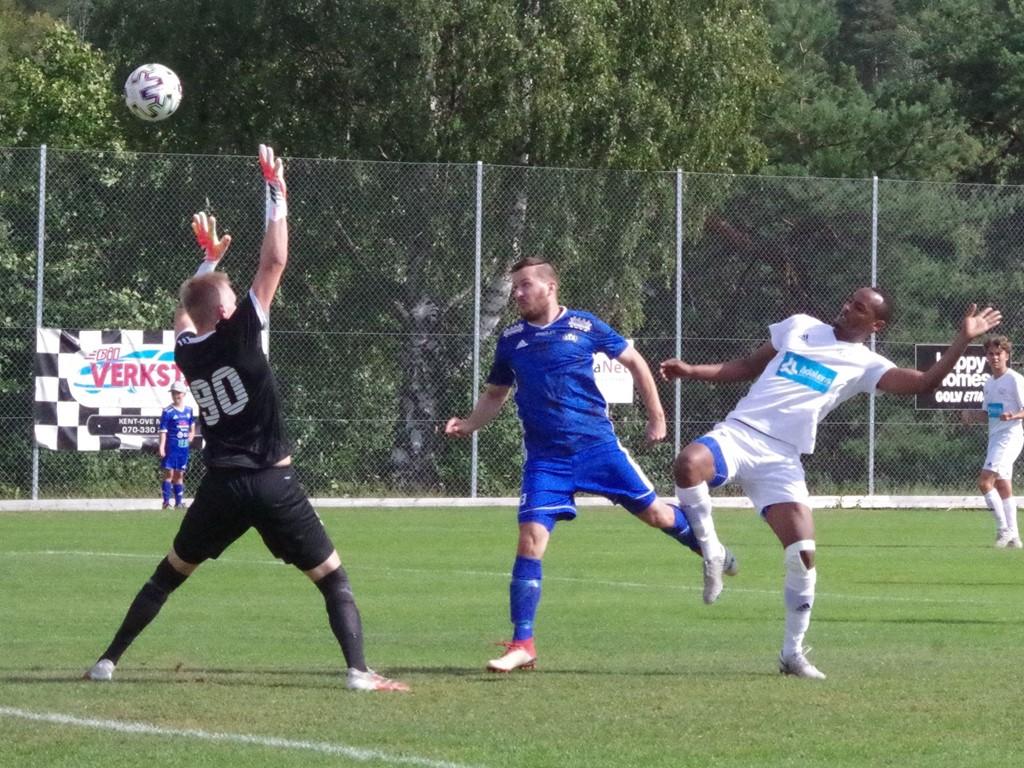 Robin Bergman gjorde båda Matfors mål borta mot Mariehem. Arkivfoto: Pia Skogman, Lokalfotbollen.nu.