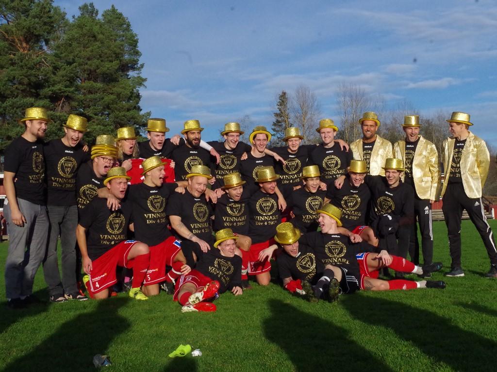 Alnö IF_seriesegrare div 4 2021. Foto: Pia Skogman, Lokalfotbollen.nu.